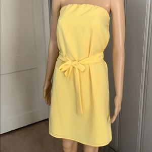 Beautiful The Limited strapless yellow dress
